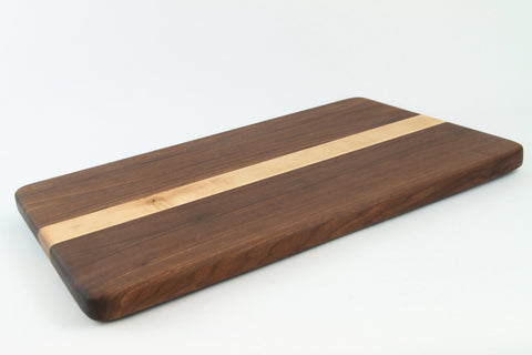 Handcrafted Wood Cutting Board - Edge Grain - Maple & Walnut. No slip feet. Great gift for him or her, Chefs or cooks!