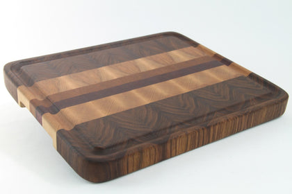 End Grain - Walnut, Cherry, Purpleheart & Maple