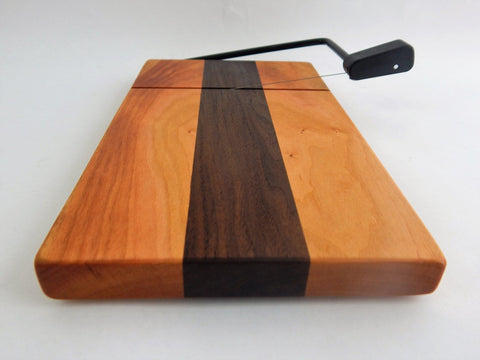 Wood Cheese Slicer/Cutter - Cherry and Walnut.