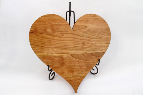 Heart shaped cutting boards. Personal Engraving! All Cherry wood!