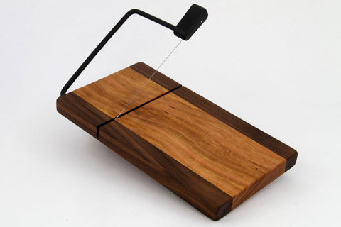 Wood Cheese Slicer/Cutter Walnut & Cherry