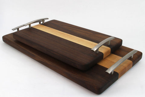 Edge Grain Serving Tray - Walnut and Maple
