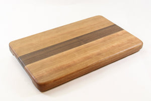 Handcrafted Wood Cutting Board - Edge Grain - Walnut and Cherry wood. No slip bottom & easy grips. Chefs/cooks will love this!!