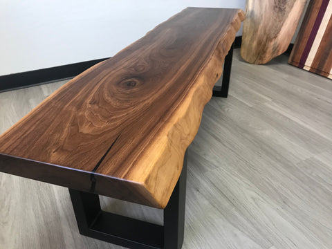 Handcrafted Walnut Wood Bench / Coffee Table Furniture