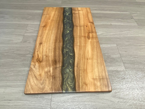 Epoxy Resin Charcuterie Board - Arizona Mesquite Wood