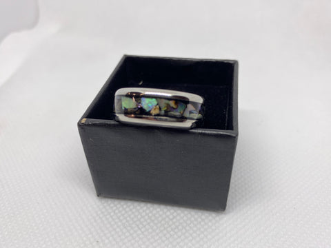 Stainless Steal Ring with Paua ( Abalone )