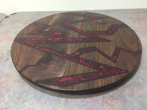 Walnut Resin Lazy Susan