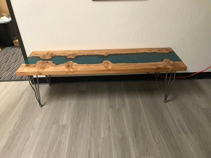 Handcrafted Resin Coffee River Table Furniture