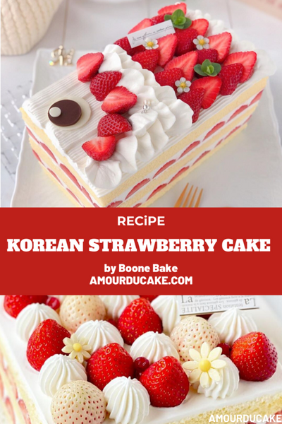 Korean Strawberry Cake