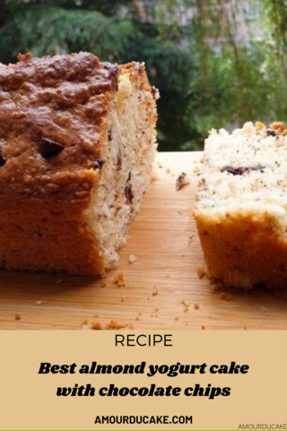 RECIPE YOGHURT CAKE WITH ALMOND POWDER AND CHOCOLATE CHIPS