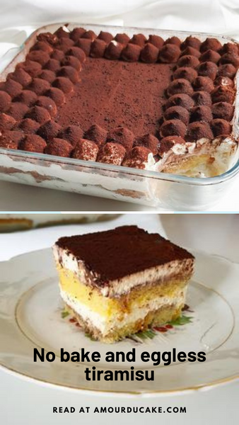 My no bake tiramisu with eggless cream