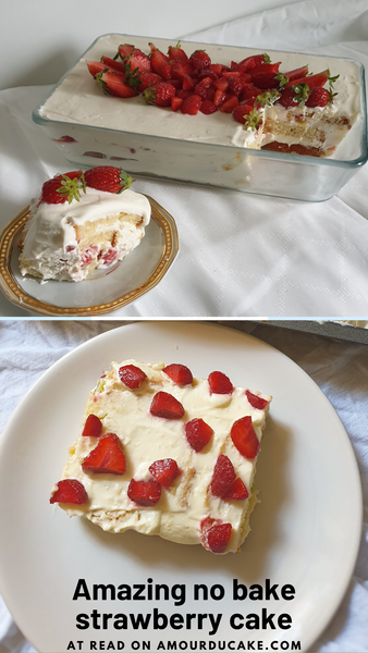 My no bake strawberry cake