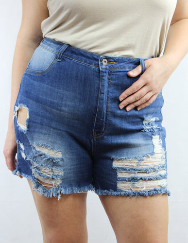 Damsel in Distressed Denim Shorts