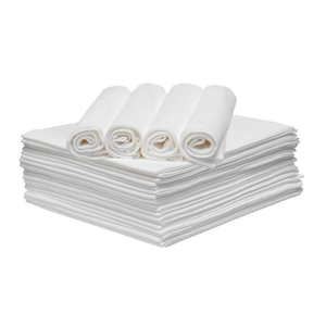 white disposable eco towels