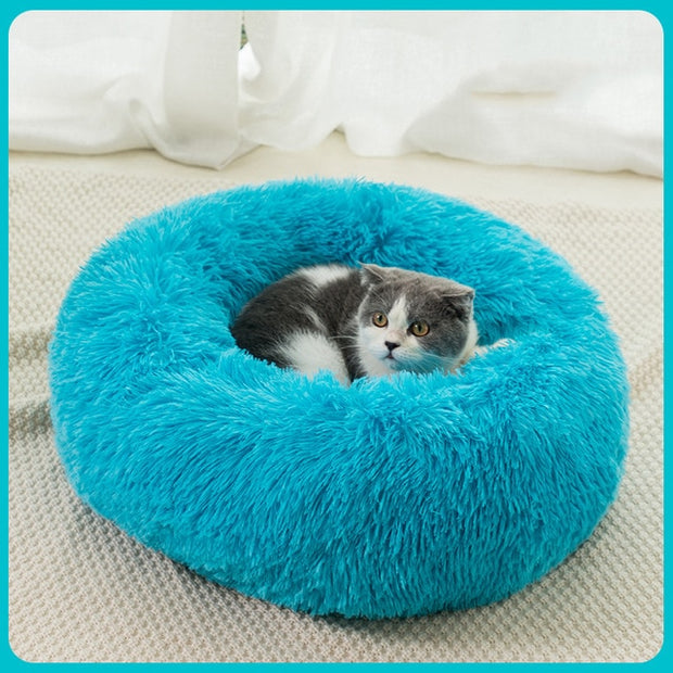 Warm Round Fluffy Cat Bed