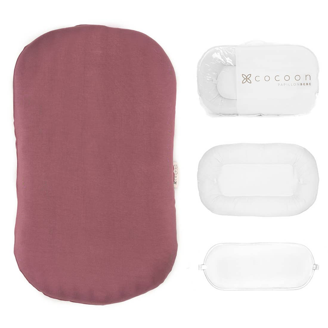 Infant Cocoon Lounger (0-9 months) - Rose