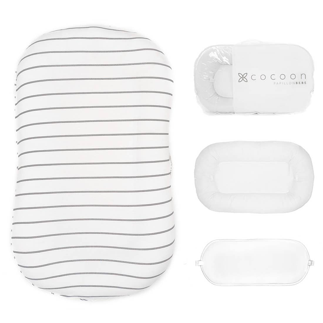 Infant Cocoon Lounger (0-9 months) - Striped Onyx