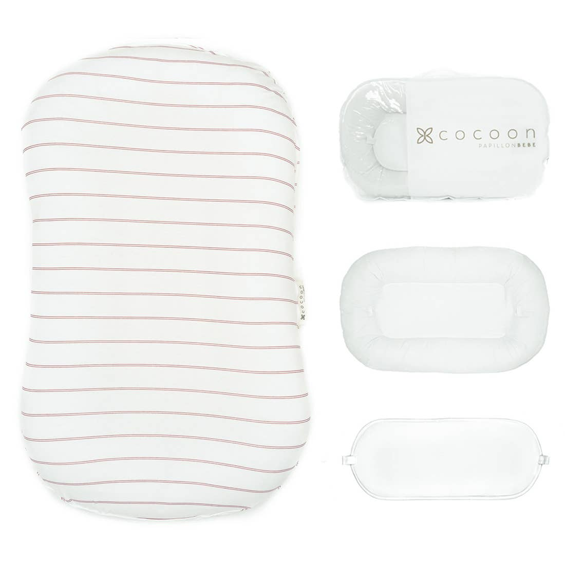 Infant Cocoon Lounger (0-9 months) - Striped Rose