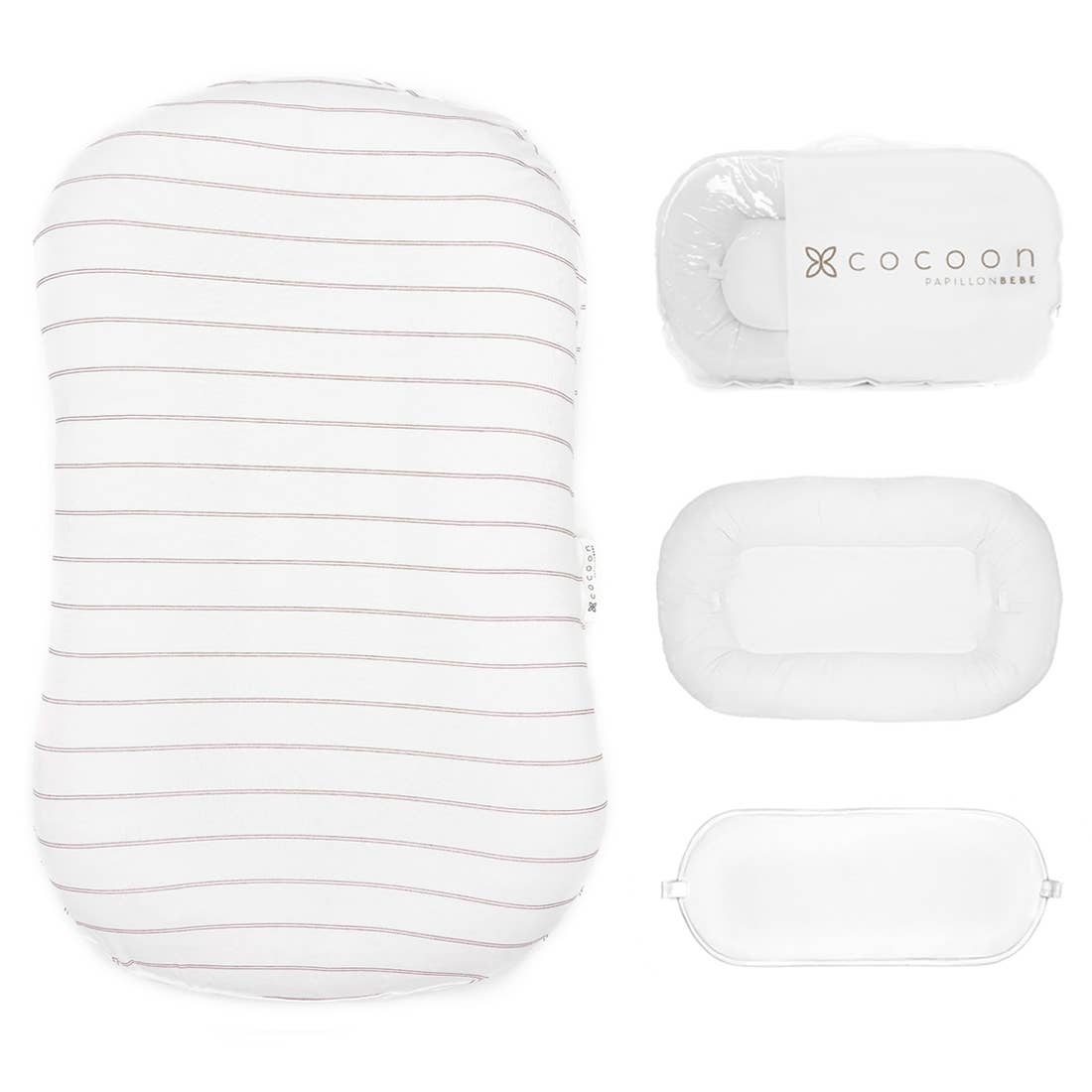 Infant Cocoon Lounger (0-9 months) - Striped Fawn