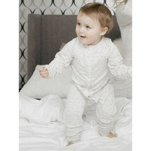 Baby Sweetheart Onesie in Grey and Blush