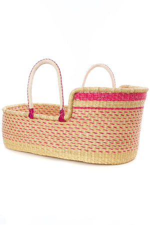 Primrose Moses Basket with Leather Handles