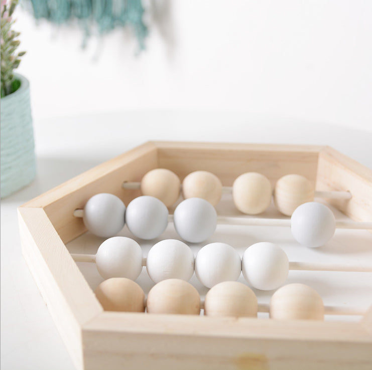 Nordic Style Wooden Abacus With beads