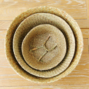 Foldable Seagrass Storage Baskets