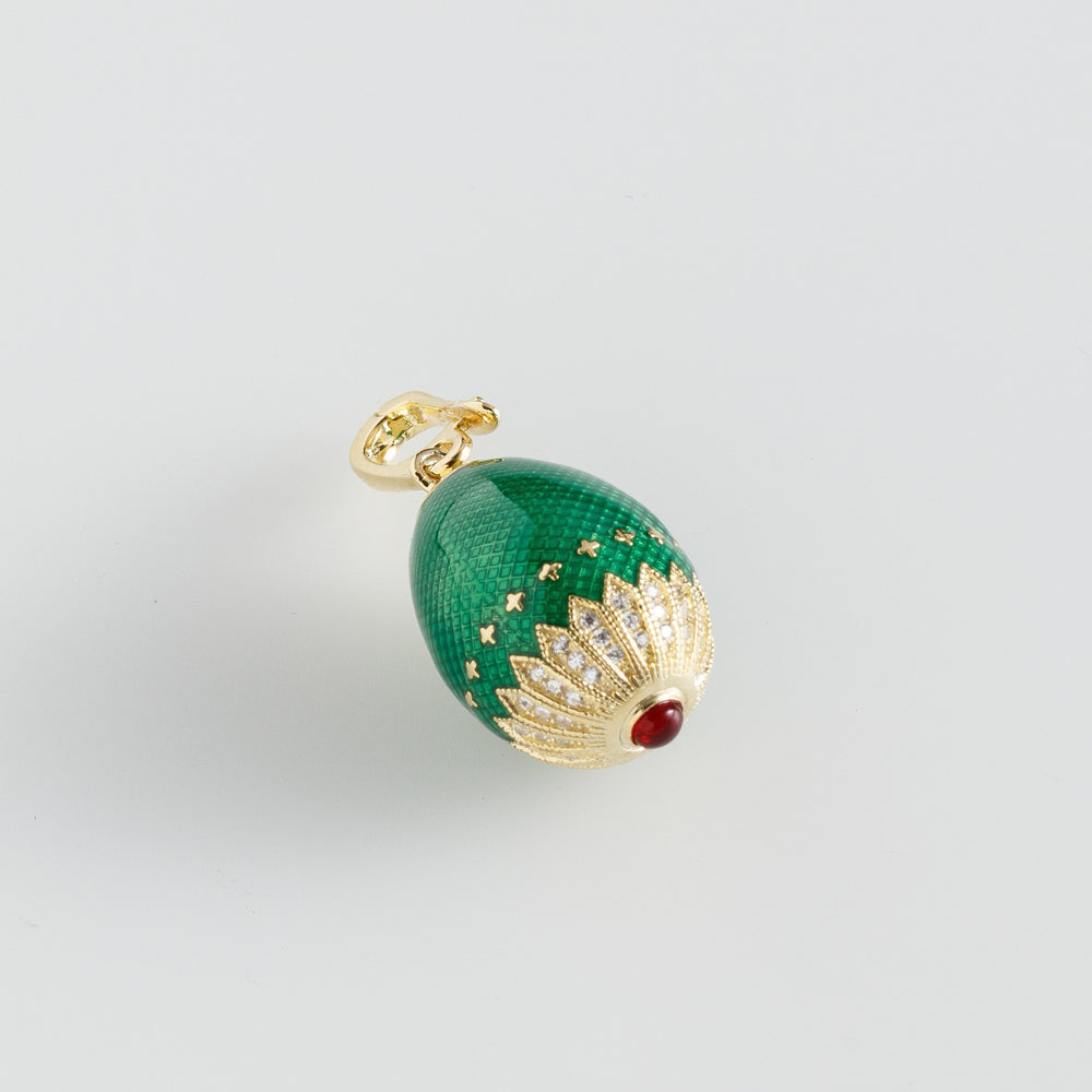 Pandant Golden Green Faberge