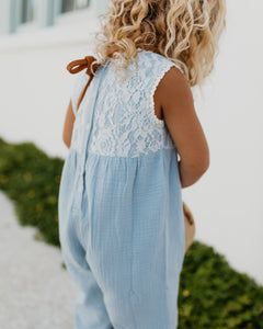 Lace Romper - BLUE