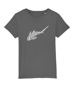 Tribal shark - Clothing - Anthracite / XS / 3-4 - 100% cotton - Banshy