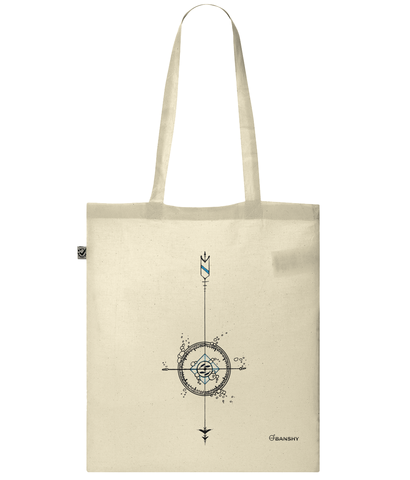 Banshy- bag_ 100% organic cotton- Compass-Diver-Bubbles-Sea-Fish