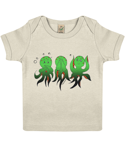 Wise Octopus - Clothing - 3-6 months / Ecru - 100% cotton - Banshy