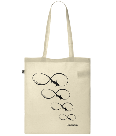 Infinity Tresher Shark tote bag - Bag - [variant_title] - 100% cotton - Banshy
