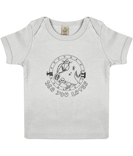 Seals, sea you later! - Clothing - 3-6 months / White - 100% cotton - Banshy