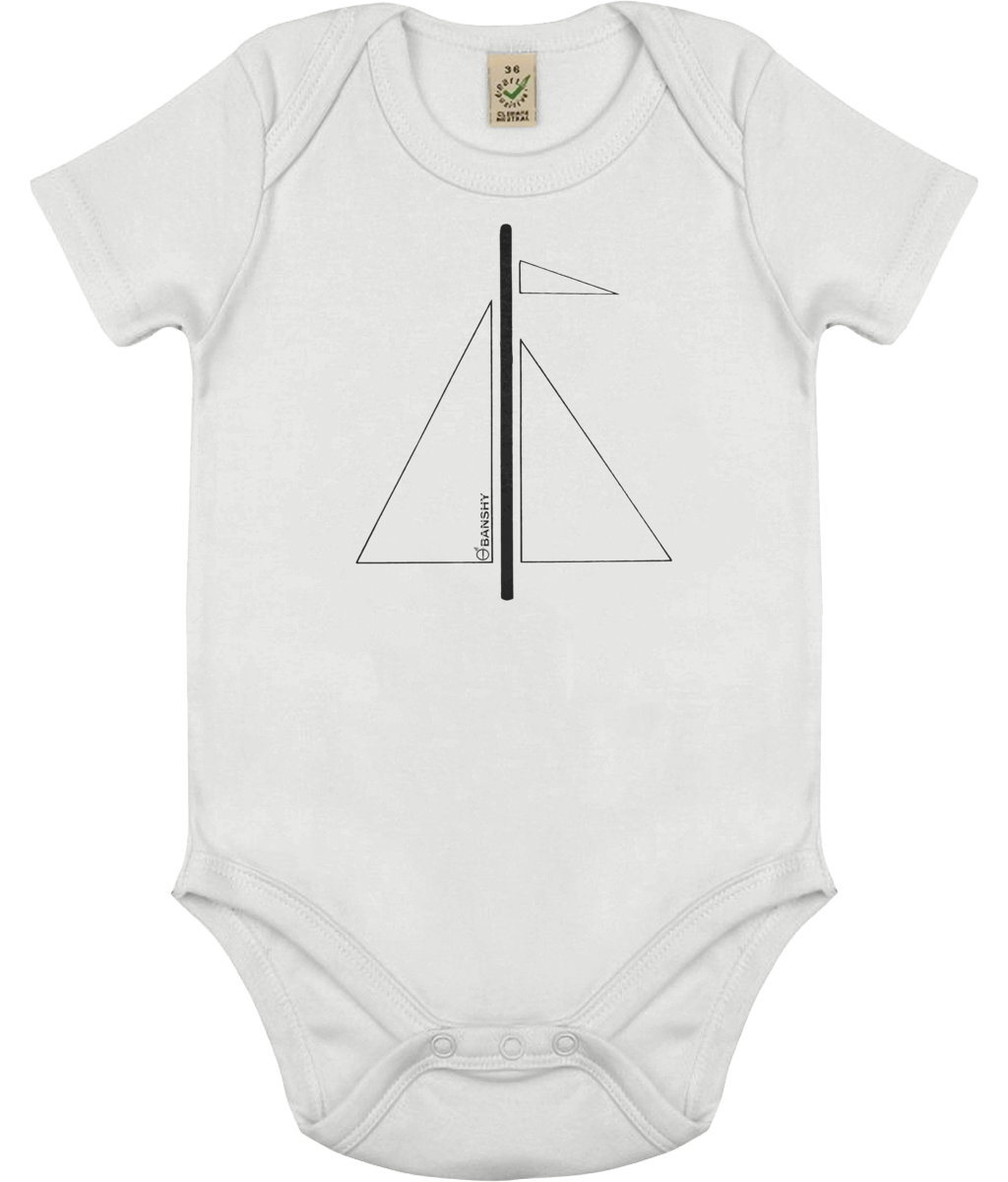 Babygrow Mât noir - Clothing - White / 0-3 months - 100% cotton - Banshy