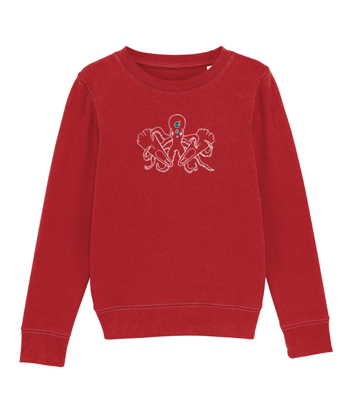 Octopus - Clothing - Bright Red / XS / 3-4 - 100% cotton - Banshy