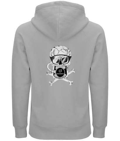 Banshy-grey hoodie -man-100% organic cotton- -divewear--clothes from the sea-pirate