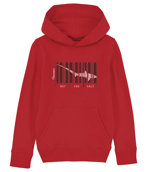Bar code tresher shark - Clothing - Bright Red / XS / 3-4 - 100% cotton - Banshy
