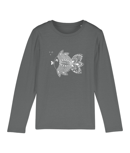 Mini Hopper fishmandala - Clothing - 3-4 / Heather Grey - 100% cotton - Banshy