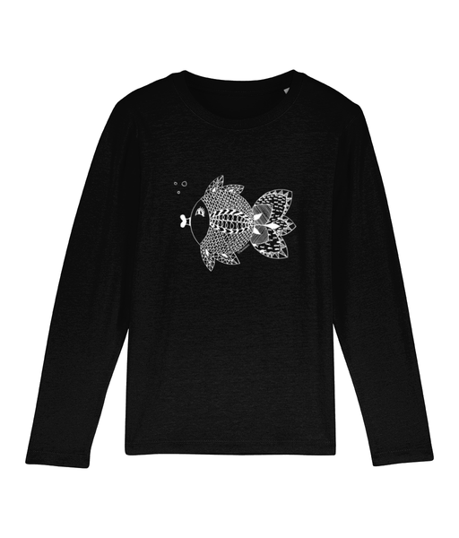 Mini Hopper fishmandala - Clothing - 3-4 / Black - 100% cotton - Banshy