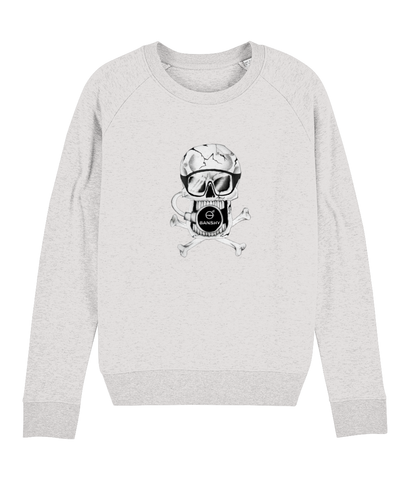 Banshy- woman hoodie-85% Organic Ring-spun combed cotton. 15% Recycled Polyester-pirate- clothes from the sea