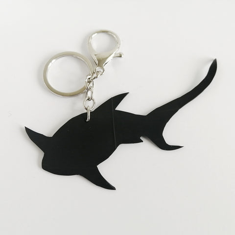 Banshy-tresher shark- key ring in inner tube and stainless steel clip- upcycled jewellery- bijou recyclé-requin renard porte clé- mer- sea- accessories from the sea- bijoux inspiré de la mer- dive wear-dive accesories - sea brand- vêtement inspiré de la mer