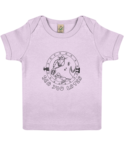 Seals, sea you later! - Clothing - 3-6 months / Powder Pink - 100% cotton - Banshy