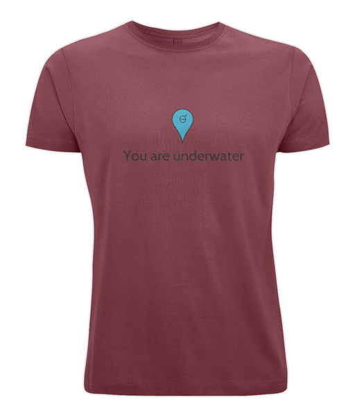 You are underwater - Clothing - Dark Red / X-Small - 100% cotton - Banshy
