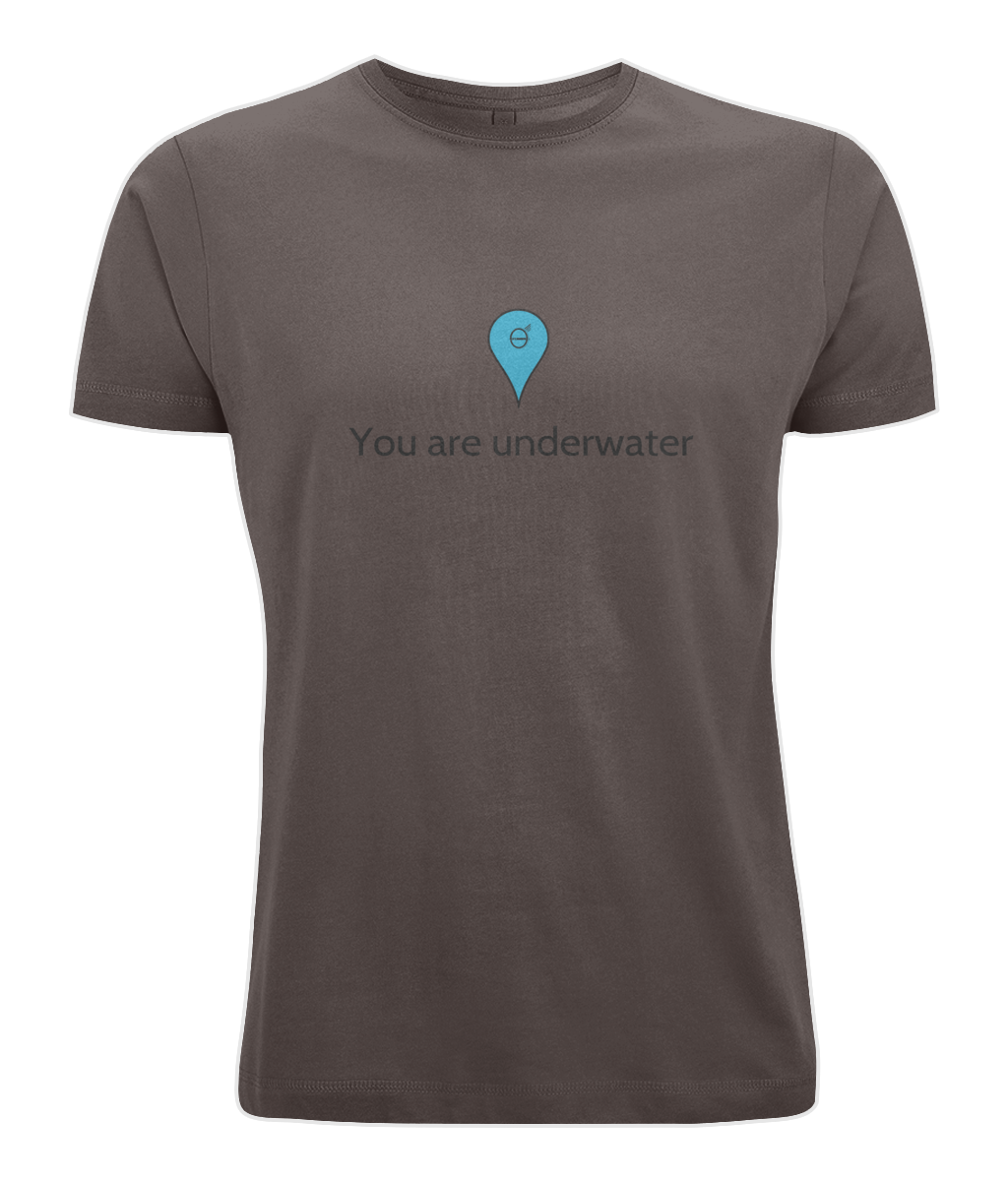 You are underwater - Clothing - Brown / X-Small - 100% cotton - Banshy