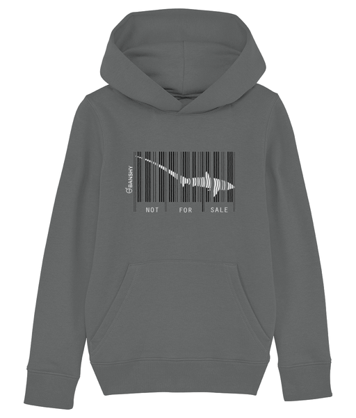 Bar code tresher shark - Clothing - Heather Grey / XS / 3-4 - 100% cotton - Banshy
