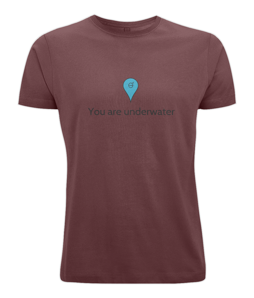 You are underwater - Clothing - Burgundy / X-Small - 100% cotton - Banshy