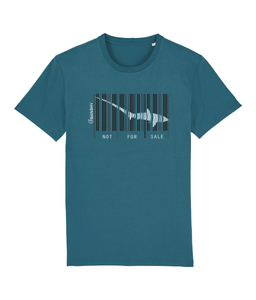 Bar code Tresher shark. Several colors - Clothing - Ocean Depth / X-Small - 100% cotton - Banshy