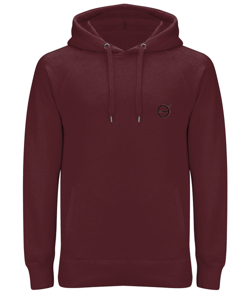 Banshy-Claret Red hoodie -man-100% organic cotton- -divewear--clothes from the sea-pirate
