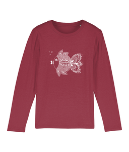 Mini Hopper fishmandala - Clothing - 3-4 / Red - 100% cotton - Banshy